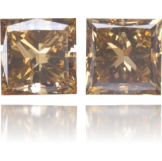 Natural Brown Diamond Square 1.62 ct Set