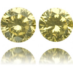 Natural Green Diamond Round 0.28 ct Set