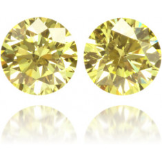 Natural Yellow Diamond Round 0.27 ct Set