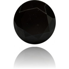 Natural Black Diamond Round 97.50 ct Polished