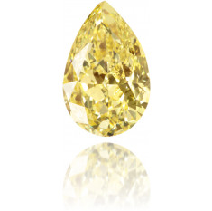 Natural Yellow Diamond Pear Shape 1.12 ct Polished