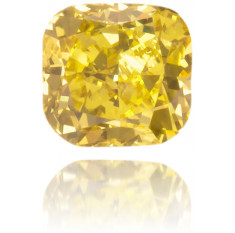 Natural Yellow Diamond Cushion 0.19 ct Polished