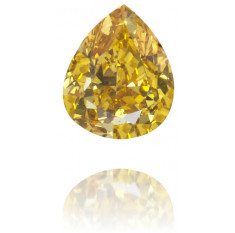 Natural Yellow Diamond Pear Shape 0.19 ct Polished