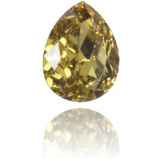 Natural Green Diamond Pear Shape 0.13 ct Polished