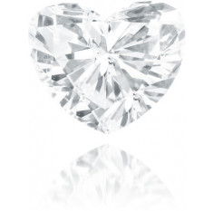 Natural White Diamond Heart Shape 0.46 ct Polished