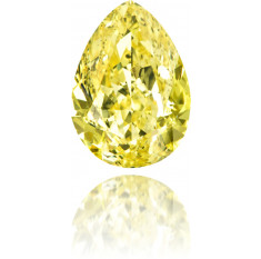 Natural Yellow Diamond Pear Shape 2.00 ct Polished