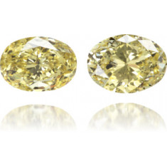 Natural Yellow Diamond Oval 1.61 ct Set