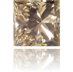 Natural Brown Diamond Square 0.16 ct Polished