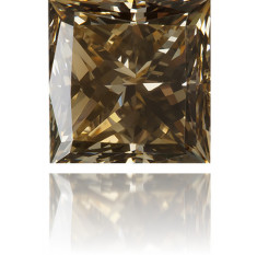 Natural Brown Diamond Square 0.20 ct Polished