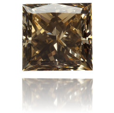 Natural Brown Diamond Square 0.14 ct Polished