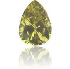 Natural Green Diamond Pear Shape 0.14 ct Polished