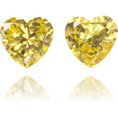Natural Yellow Diamond Heart Shape 0.50 ct Set