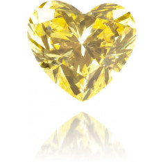 Natural Yellow Diamond Heart Shape 0.18 ct Polished
