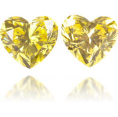 Natural Yellow Diamond Heart Shape 0.40 ct Set