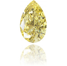 Natural Yellow Diamond Pear Shape 0.50 ct Polished