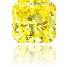 Natural Yellow Diamond Square 0.29 ct Polished