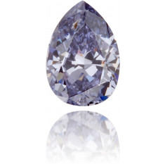 Natural Blue Diamond Pear Shape 0.10 ct Polished