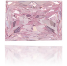 Natural Pink Diamond Rectangle 0.11 ct Polished