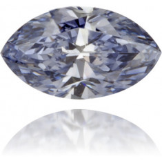 Natural Blue Diamond Marquise 0.13 ct Polished