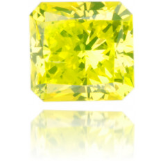 Natural Yellow Diamond Square 0.32 ct Polished