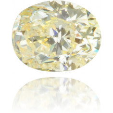 Natural Yellow Diamond Oval 0.21 ct Polished