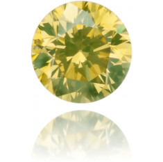 Natural Yellow Diamond Round 0.12 ct Polished
