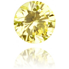 Natural Yellow Diamond Round 0.05 ct Polished