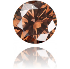 Natural Brown Diamond Round 0.12 ct Polished