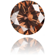 Natural Brown Diamond Round 0.17 ct Polished
