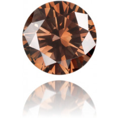 Natural Brown Diamond Round 0.14 ct Polished