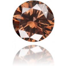 Natural Brown Diamond Round 0.11 ct Polished
