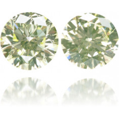 Natural Green Diamond Round 0.80 ct Set