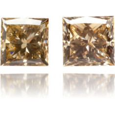 Natural Brown Diamond Square 1.52 ct Set