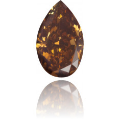 Natural Brown Diamond Pear Shape 0.44 ct Polished