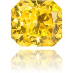 Natural Yellow Diamond Rectangle 0.25 ct Polished