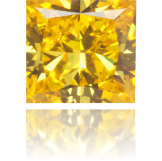 Natural Yellow Diamond Square 0.26 ct Polished