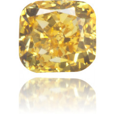 Natural Yellow Diamond Square 0.14 ct Polished