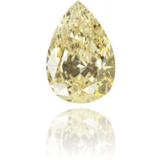 Natural Yellow Diamond Pear Shape 0.41 ct Polished