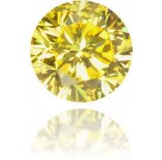 Natural Yellow Diamond Round 0.20 ct Polished