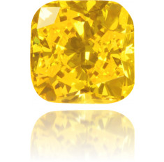 Natural Yellow Diamond Square 0.22 ct Polished