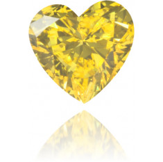 Natural Yellow Diamond Heart Shape 0.15 ct Polished