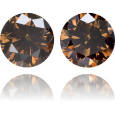 Natural Brown Diamond Round 1.62 ct Set