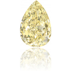 Natural Yellow Diamond Pear Shape 0.53 ct Polished