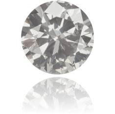 Natural Gray Diamond Round 0.53 ct Polished