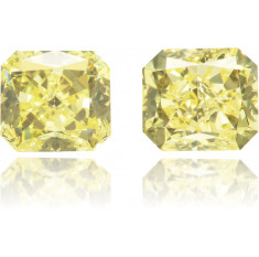 Natural Yellow Diamond Rectangle 1.56 ct Set