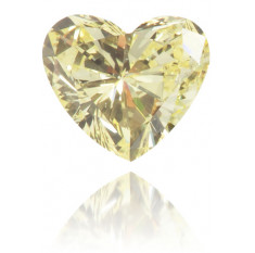 Natural Yellow Diamond Heart Shape 0.16 ct Polished