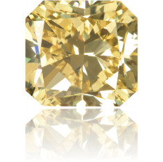 Natural Yellow Diamond Square 3.51 ct Polished