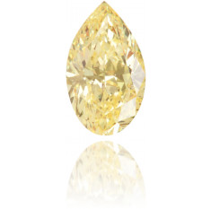 Natural Yellow Diamond Pear Shape 0.28 ct Polished