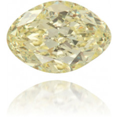 Natural Yellow Diamond Oval 0.30 ct Polished