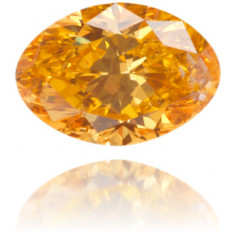 Natural Orange Diamond Oval 0.14 ct Polished